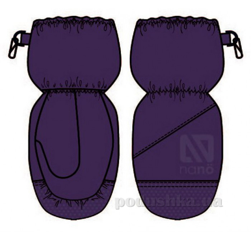 Непромокаемые варежки-краги для мальчика Nano F14 MIT 201 Purple