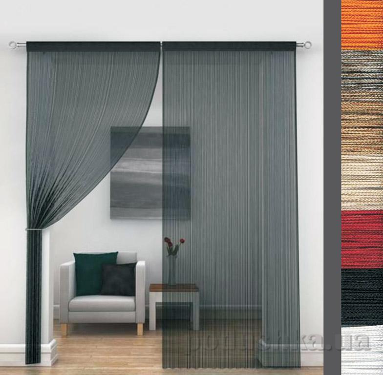 Нитяные шторы Lux DD плотные нити
