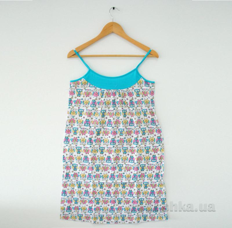 Ночная рубашка МТФ 01202 бирюзовая
