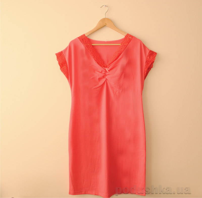 Ночная рубашка МТФ 01812 коралловая
