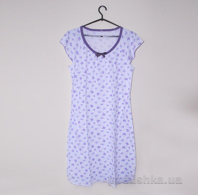 Ночная рубашка МТФ 0303-О фиолетовая