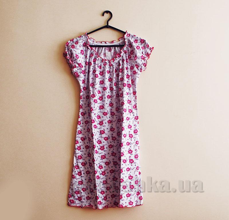 Ночная рубашка МТФ 553 розовые цветы