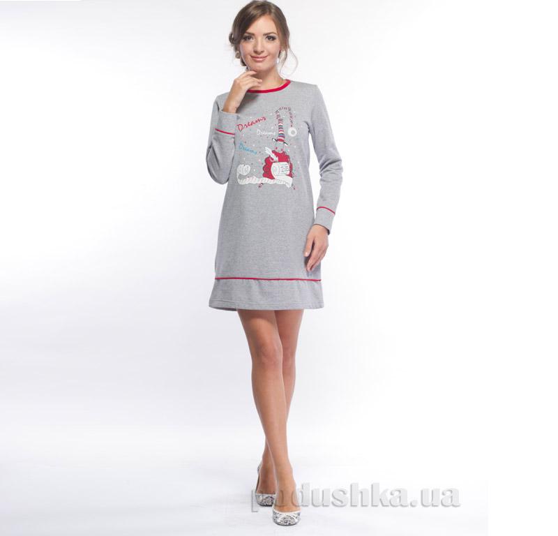 Ночная рубашка с начесом МТФ 1480 П красная