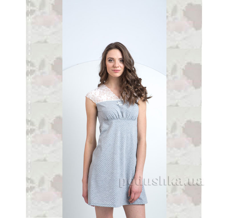 Ночная сорочка Ellen LND 061/001 голубая