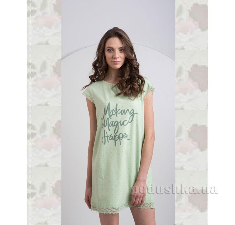 Ночная сорочка Ellen LND 077/001 салатовая
