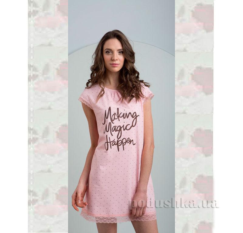 Ночная сорочка Ellen LND 077/002 розовая