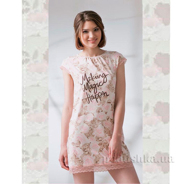 Ночная сорочка Ellen LND 077/003 розовая