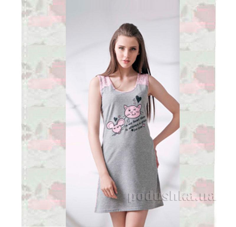 Ночная сорочка Ellen LND 086/001 серая