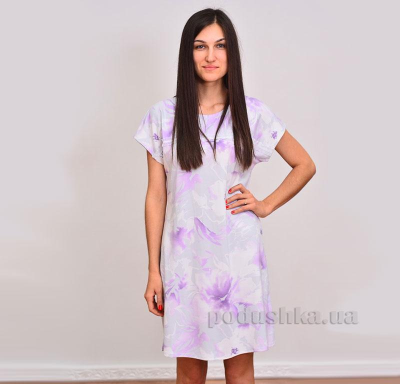 Ночная сорочка Лиловые цветы Прованс