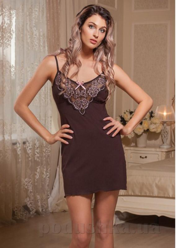 Ночная сорочка с регулятором Violet delux НС-М-61 шоколад