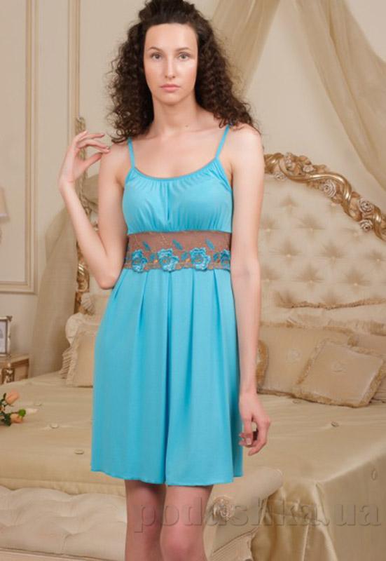 Ночная сорочка Violet delux НС-М-26 голубая