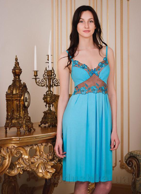 Ночная сорочка Violet delux НС-М-28 голубая