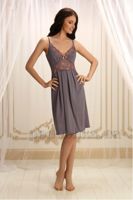 Ночная сорочка Violet delux НС-М-28 серая