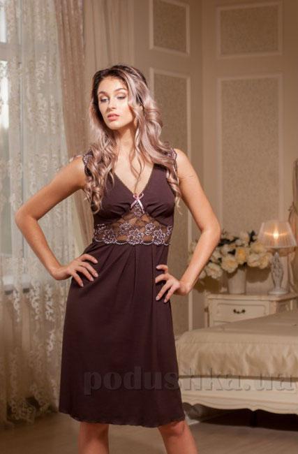 Ночная сорочка Violet delux НС-М-39 шоколадная