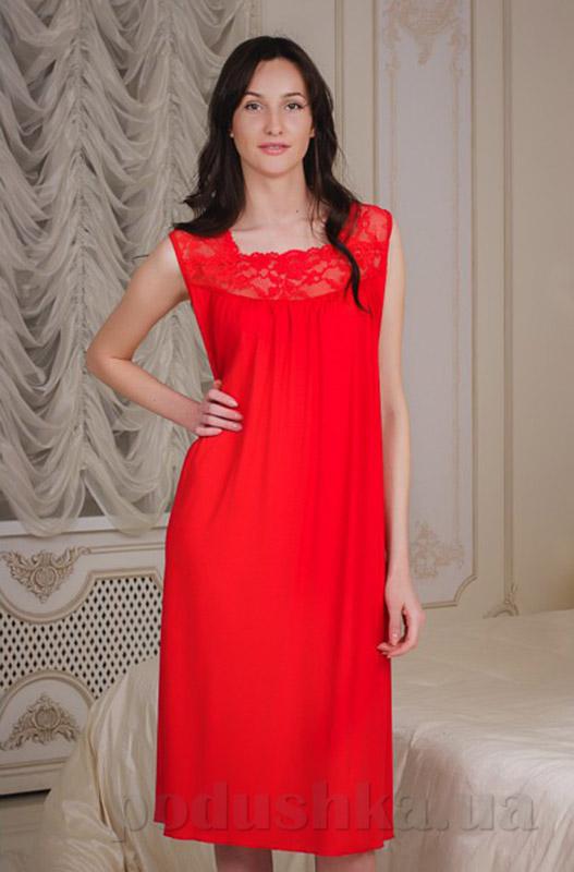 Ночная сорочка Violet delux НС-М-42 красная