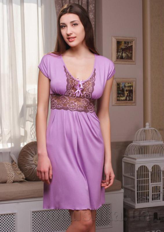 Ночная сорочка Violet delux НС-М-45 сиреневая