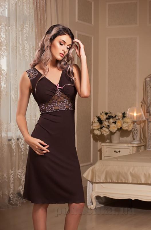 Ночная сорочка Violet delux НС-М-47 шоколадная