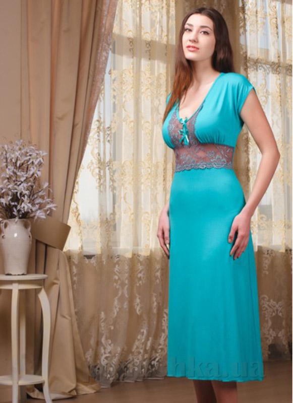 Ночная сорочка Violet delux НС-М-50 бирюза