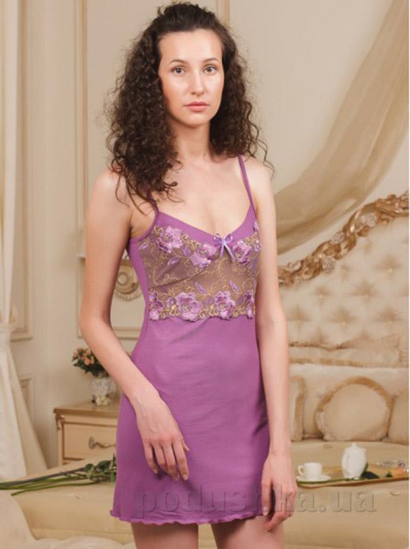 Ночная сорочка Violet delux НС-М-53 гортензия