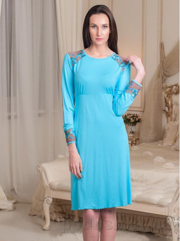 Ночная сорочка Violet delux НС-М-58 голубая
