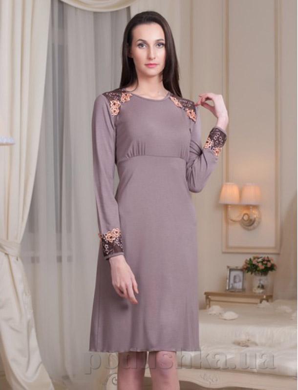 Ночная сорочка Violet delux НС-М-58 мокко
