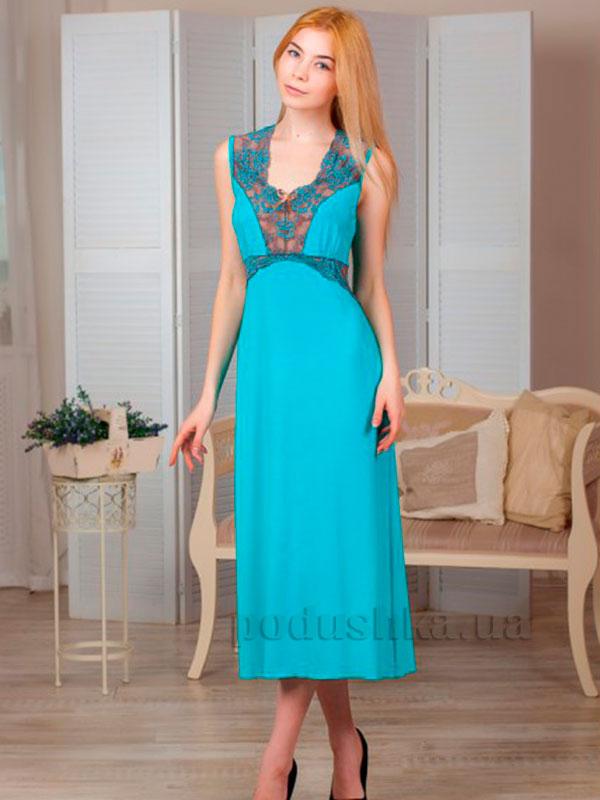 Ночная сорочка Violet delux НС-М-60 бирюза