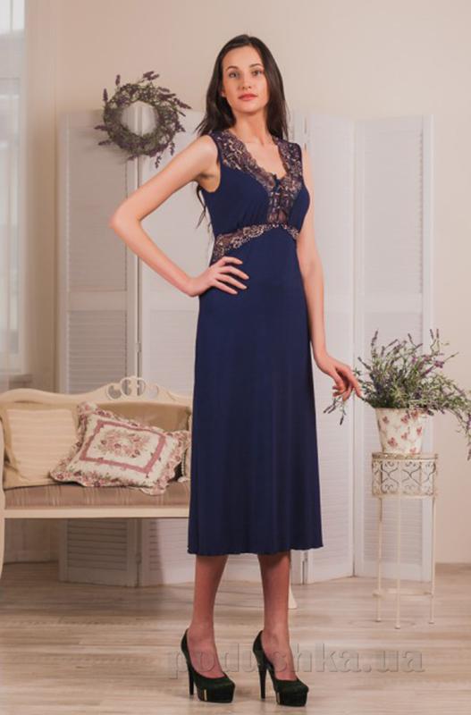 Ночная сорочка Violet delux НС-М-60 синяя