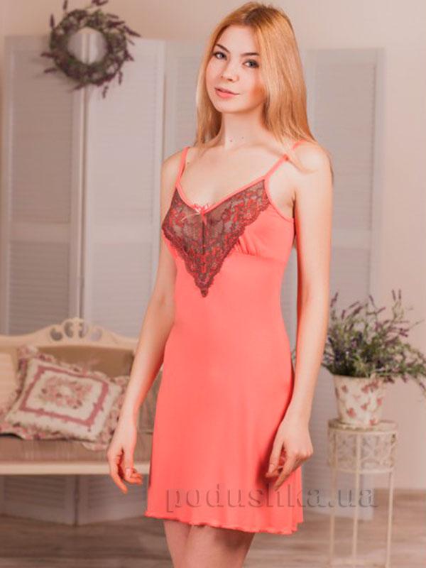 Ночная сорочка Violet delux НС-М-61 персиковая