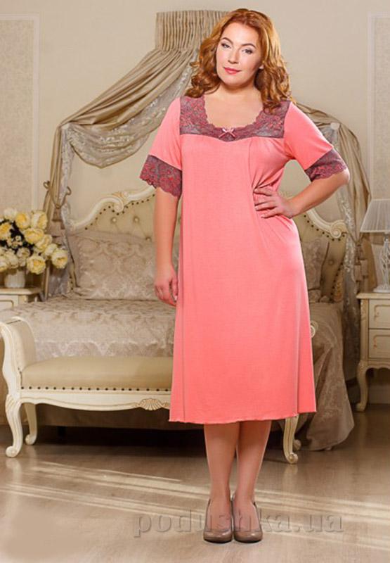 Ночная сорочка Violet delux НС-М-63 персиковая