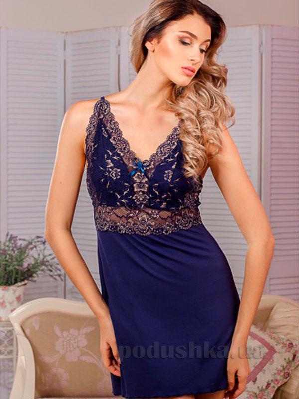 Ночная сорочка Violet delux НС-М-68 синяя
