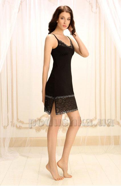 Ночная сорочка Violet delux НС-М-70 черный люкс