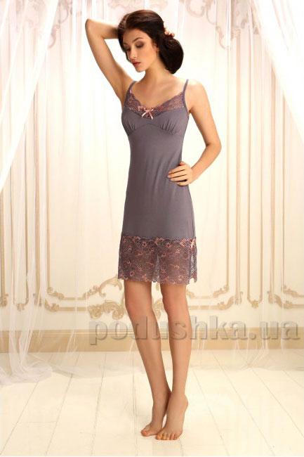 Ночная сорочка Violet delux НС-М-70 серая