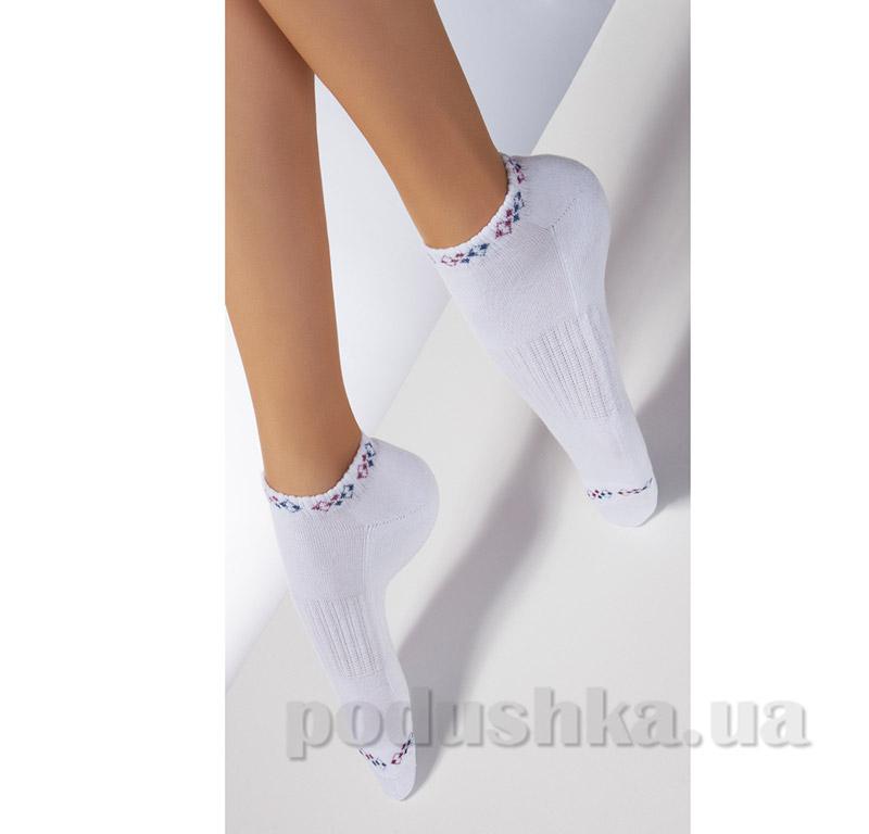 Носки белые махровые спортивные с рисунком TS-02 Giulia bianco