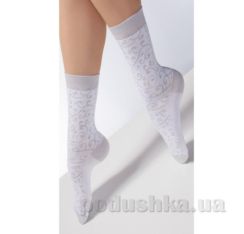 Носки белые с флористическим рисунком CP-05 Giulia bianco