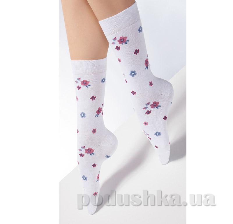 Носки белые в цветочек CP-02 Giulia bianco