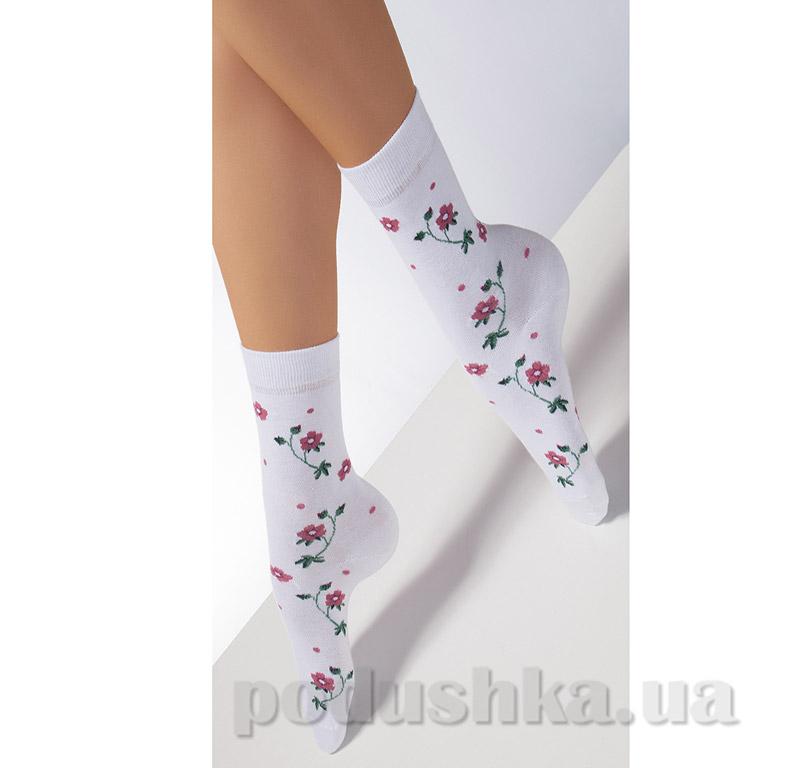 Носки белые в цветочек CP-04 Giulia bianco