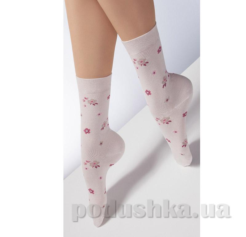Носки бежевые в цветочек CP-02 Giulia panna