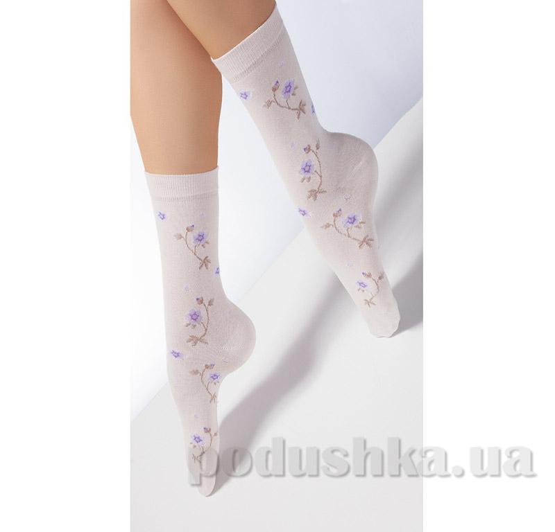 Носки бежевые в цветочек CP-04 Giulia panna