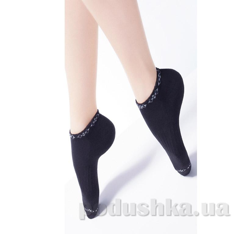 Носки черные махровые спортивные с рисунком TS-02 Giulia nero