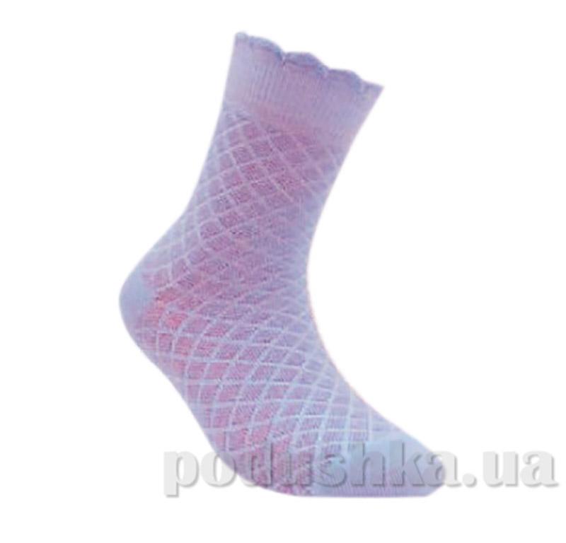 Носки детские жаккардовые Conte Bravo 14С-13СП 187 бледно-фиолетовые