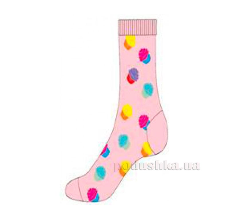 Носки для девочек Кребо 2003-09 Кексики