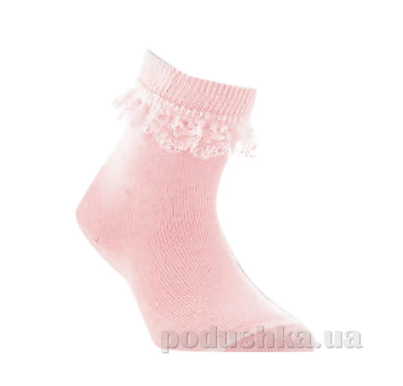 Носки для девочки с кружевом Conte Tip-Top 7С-11СП 000 светло-розовые