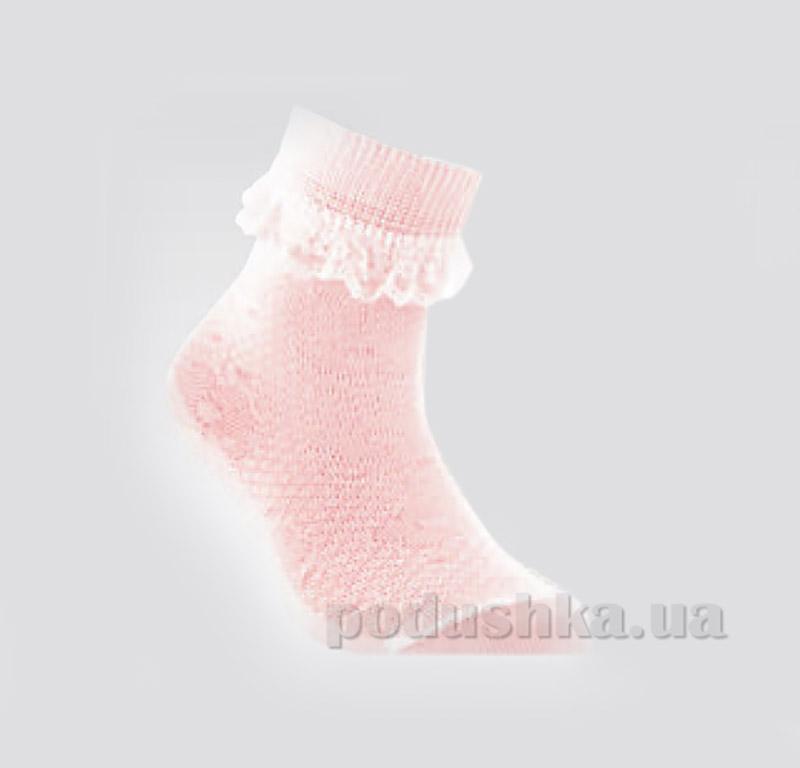Носки для девочки с кружевом Conte Tip-Top 7С-27СП 081 светло-розовые