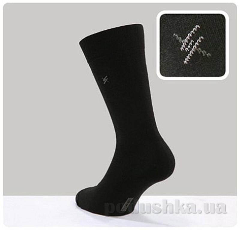 Носки с рисунком 006 черные мужские Classic DiWaRi 5С-08СП