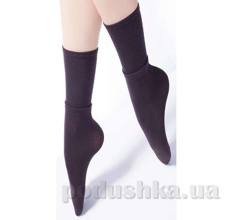 Носки высокие с двойным отворотом и ажурным рисунком Giulia Dual-2 caffe