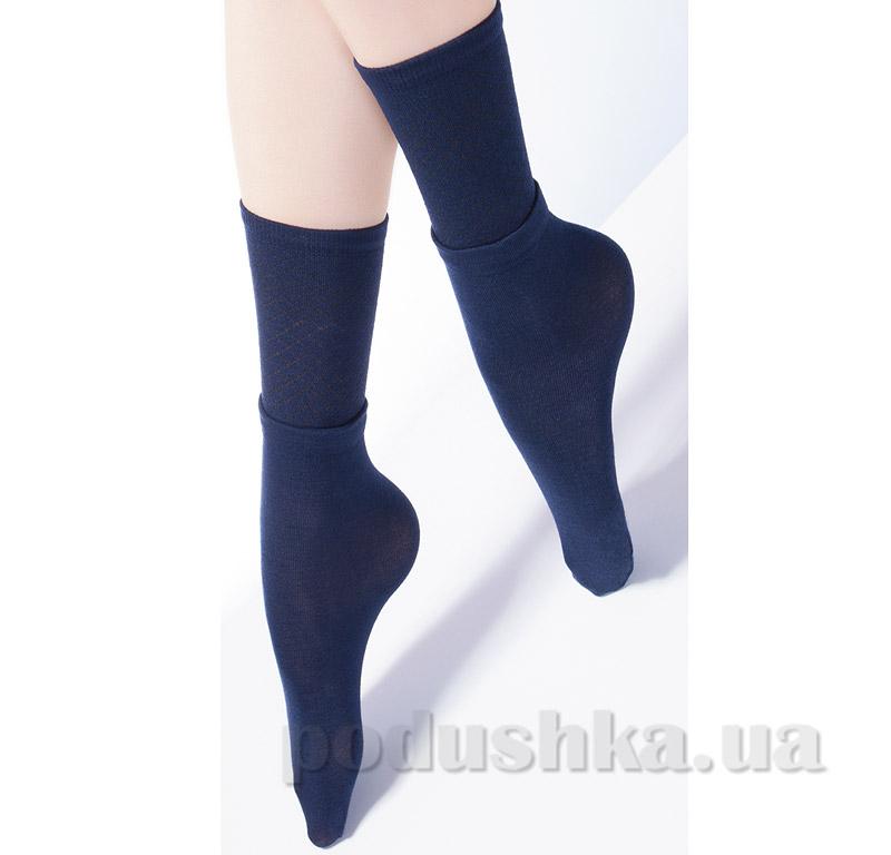 Носки высокие с двойным отворотом и ажурным рисунком Giulia Dual-2 dark bleu