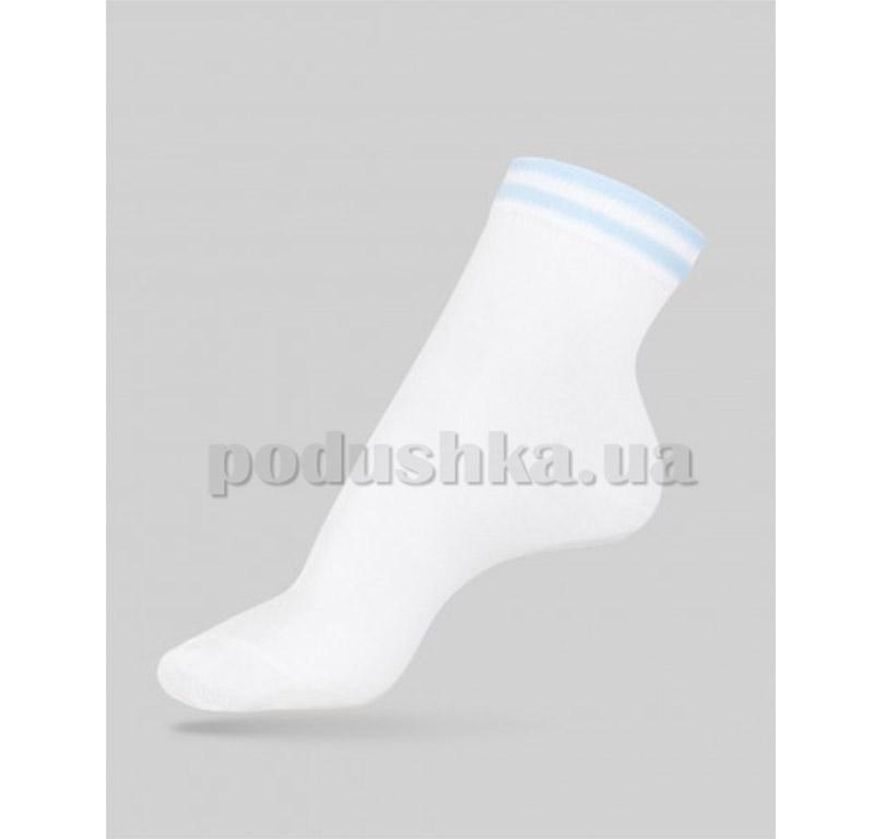 Носки женские Classic декор резинка Conte 7С-32СП 010 бело-голубые