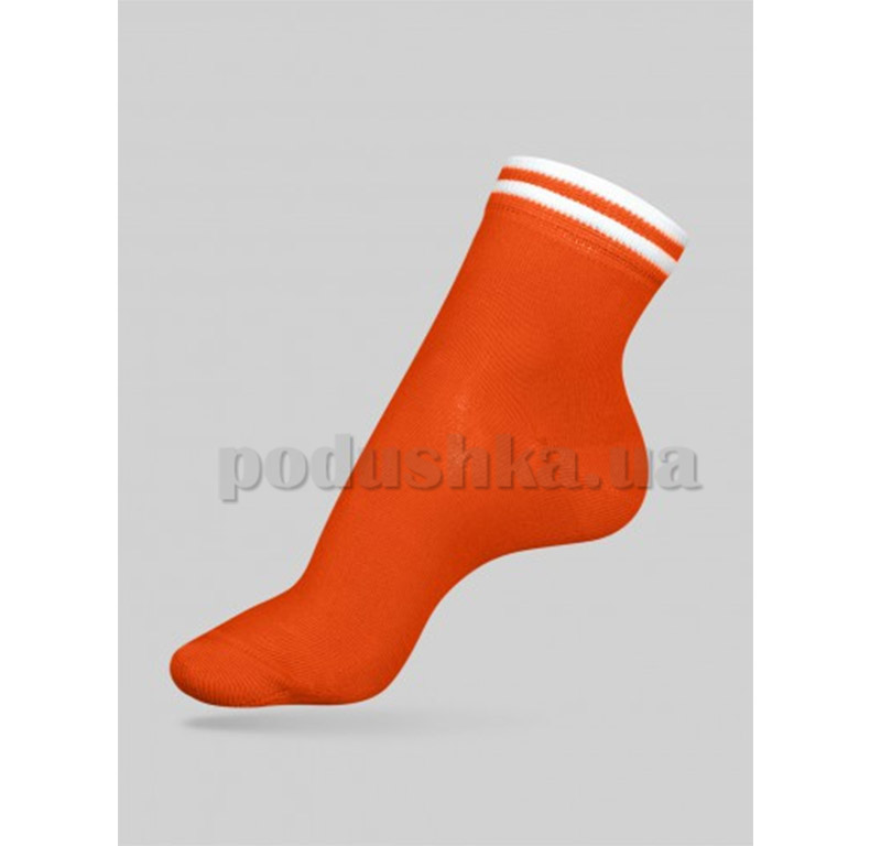 Носки женские Classic декор резинка Conte 7С-32СП 010 оранжевые