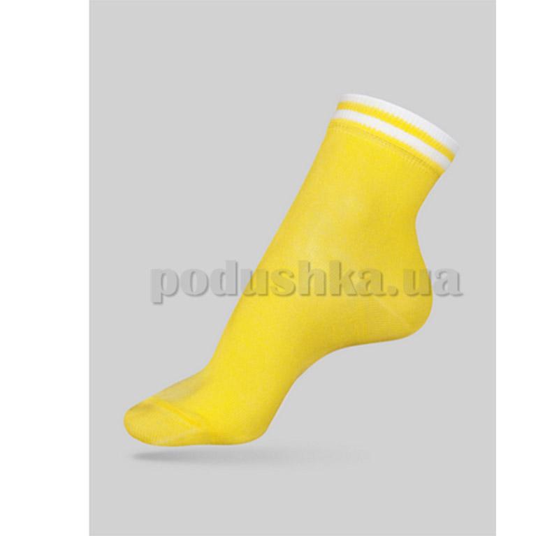 Носки женские Classic декор резинка Conte 7С-32СП 010 желтые