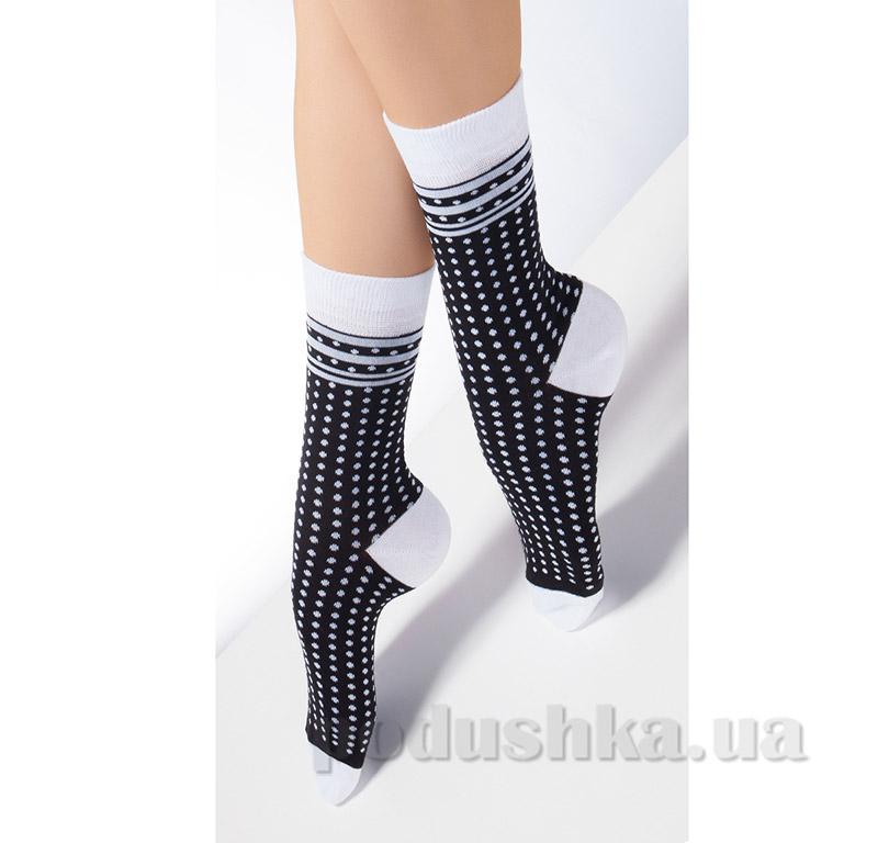Носки женские с геометрическим рисунком CG-01 Giulia nero